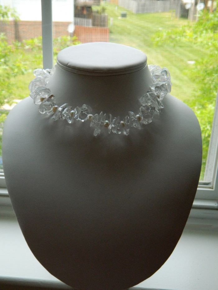 Arden Jewelry Design quartz chip and pearl necklace