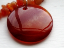 Arden Jewelry Design red aventurine and carnelian necklace